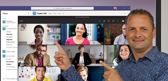 Teams doorverbinden bij bellen en vergaderen in extra scherm